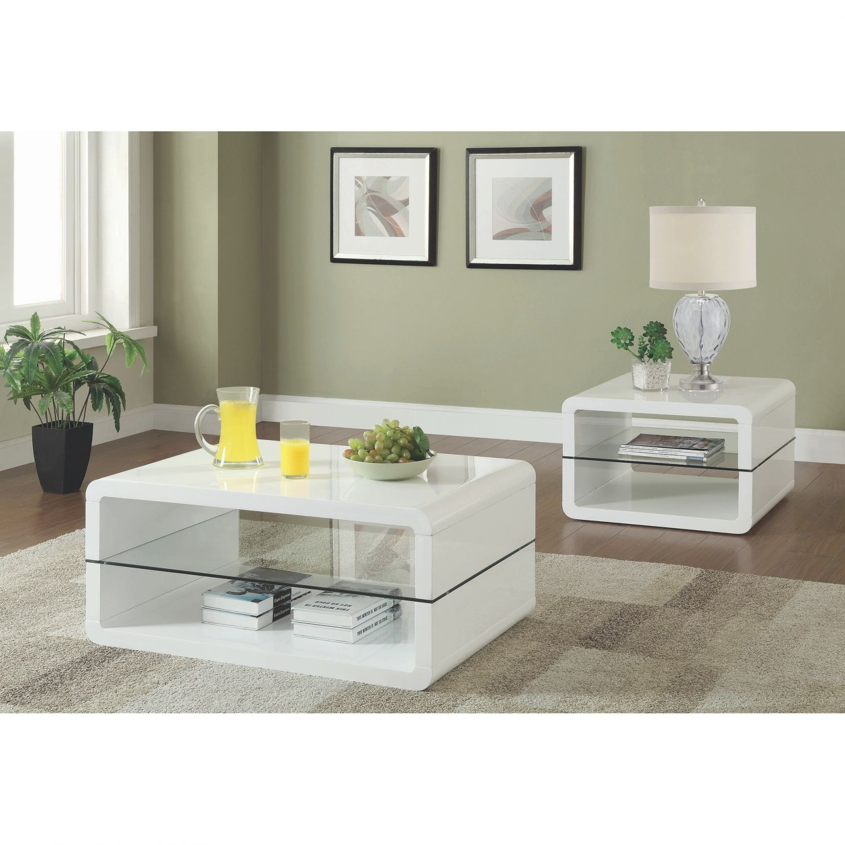 Modern Cube Design Living Room Accent Table Collection With Glass Shelf intended for Accent Tables For Living Room