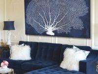 Navy Blue Living Room Ideas – Adorable Home regarding Blue And White Living Room
