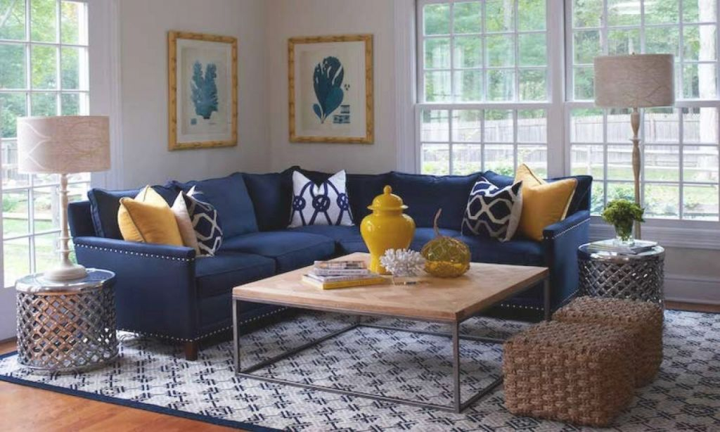 Navy Blue Yellow Grey Living Room – Decoratorist – #8522 intended for 15 Beautiful Ideas Blue And Yellow Living Room