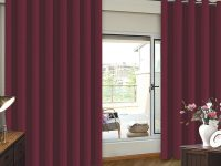 Patio Door Curtain Wide Width Drapes For Living Room Blackout Blinds For Sliding Door Curtain, Burgundy, Extra Wider 8.3Ft Wide X 7Ft Tall (100Inch W with 10+ Unique Gallery Burgundy Curtains For Living Room