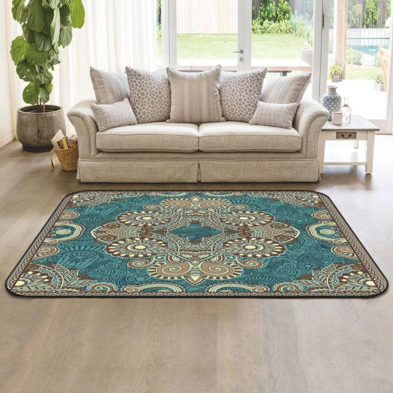 Polyester Printed Big Area Rugs And Carpets With Rubber regarding Big Area Rugs For Living Room