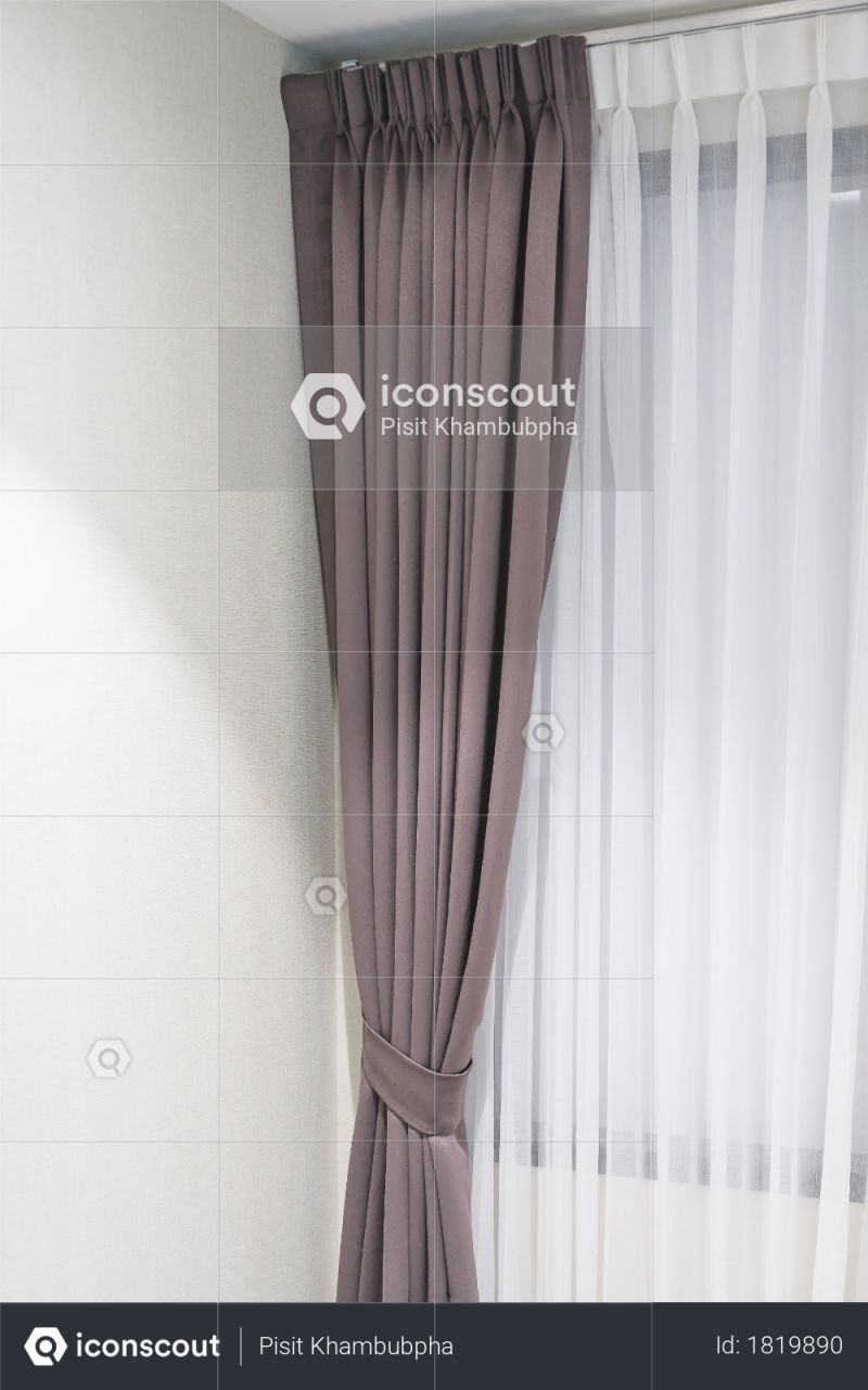 Premium Beautiful Curtains With Ring-Top Rail, Curtain Interior Decoration In Living Room Photo Download In Png & Jpg Format with regard to Beautiful Curtains For Living Room