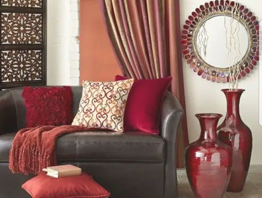 Red Brown And Gold Living Room | Living Room Colors, Living in 8+ Amazing Inspiration Ideas For Brown And Red Living Room