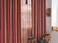Red Sunset Scenery Striped Colored Living Room Blackout Window Curtains #Chs1313 pertaining to 10+ Unique Gallery Burgundy Curtains For Living Room