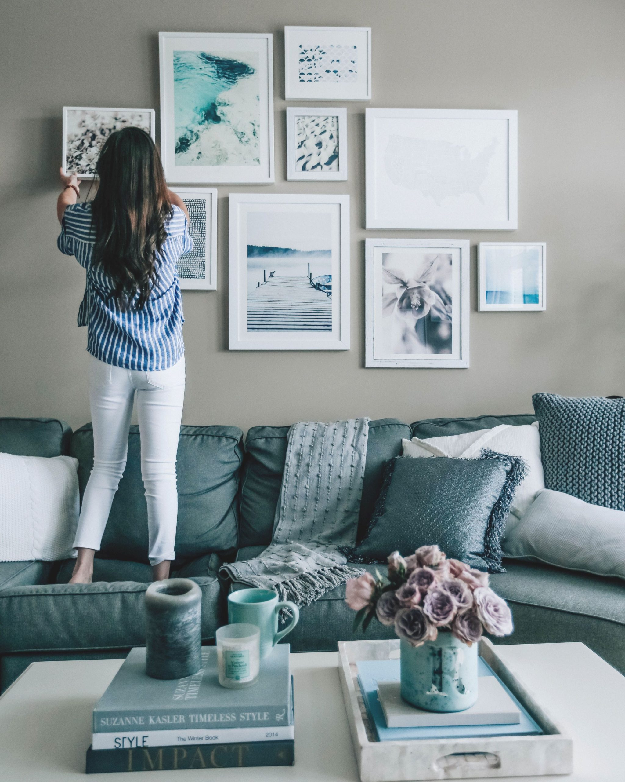 Spring Home Refresh: Part 2 | Blue Grey Living Room, Living intended for 12+ Awesome Gallery For Blue And Grey Living Room