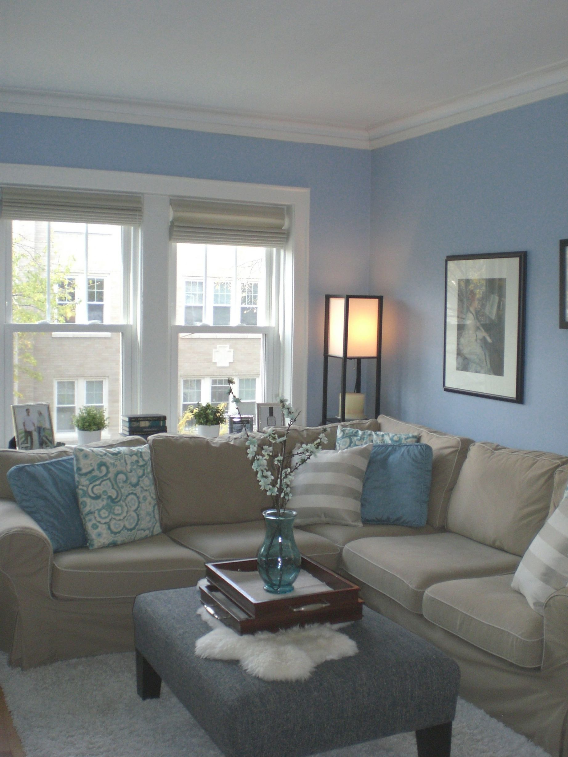 Tan Couch, Blue And Green Theme- Trying To Find Something To throughout Blue And Tan Living Room