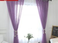 Us $13.38 25% Off|Purple Curtain For Window Bedroom Burgundy Sheer Voile For Living Room Tulle Curtain Fabric Kitchen Linen Drape Custom inside Burgundy Curtains For Living Room