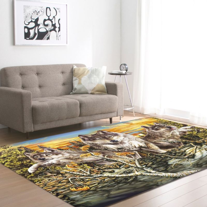 Us $28.57 31% Off|European And American 3D Wild Wolfs Decoration Big Carpets Living Room Area Rug Soft Flannel Boys Room Gift Carpet Mats Rugs|Carpet| for Awesome Ideas For Big Area Rugs For Living Room