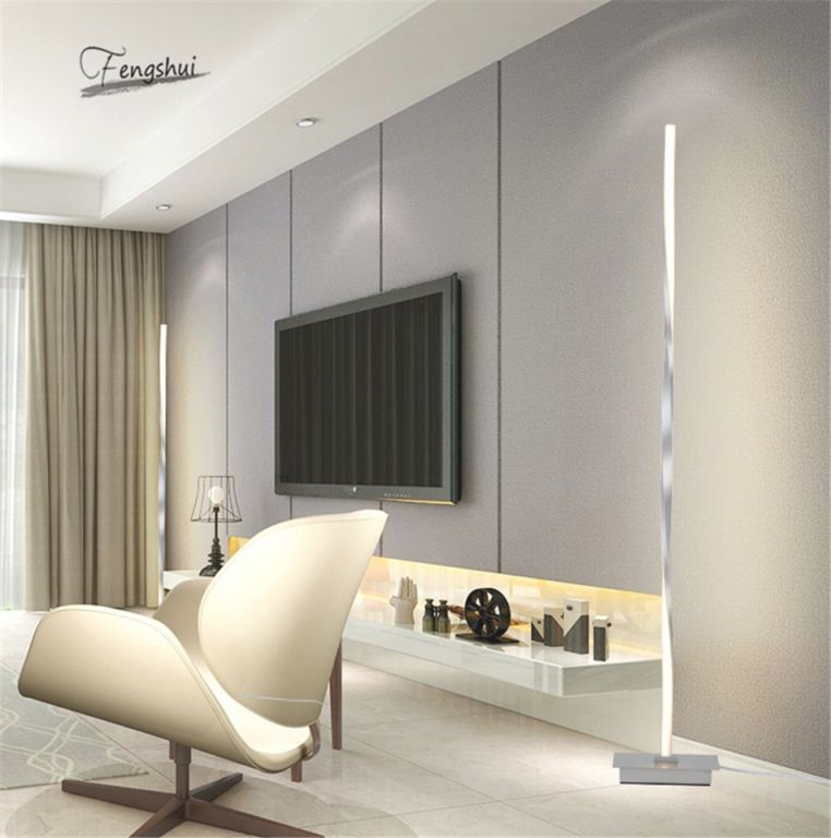 Us $86.4 20% Off|Modern Led Floor Lamp For Living Room Standing Pole Led Floor Light For Bedrooms Offices Bright Dimmable Table Lamp Indoor for Bright Floor Lamp For Living Room