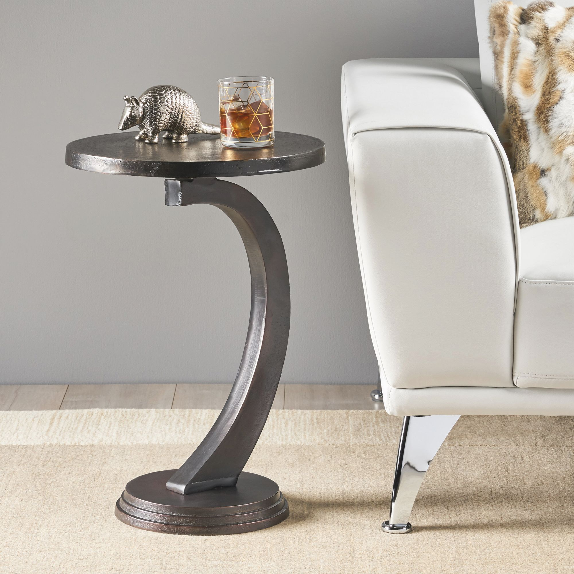 Victoria Modern Aluminum Accent Table intended for Accent Tables For Living Room