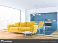 White Living Room Corner, Yellow Sofa 248239618 intended for Blue And Yellow Living Room
