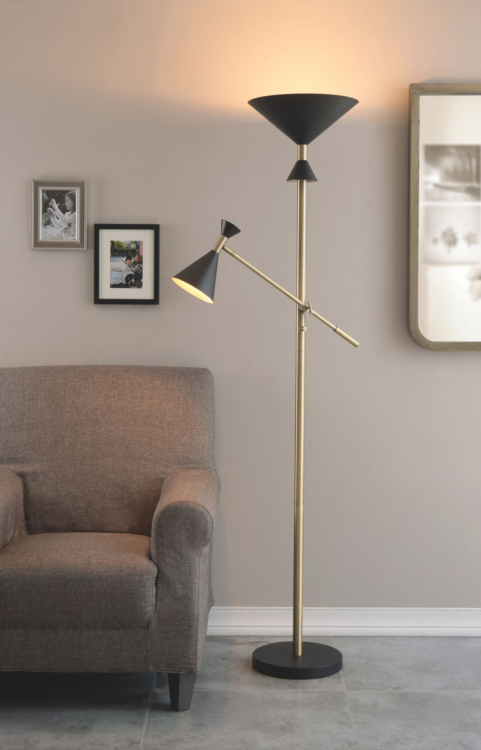 """Yorba 72.5"""" Torchiere Floor Lamp within 10+ Unique Gallery Bright Floor Lamp For Living Room"""