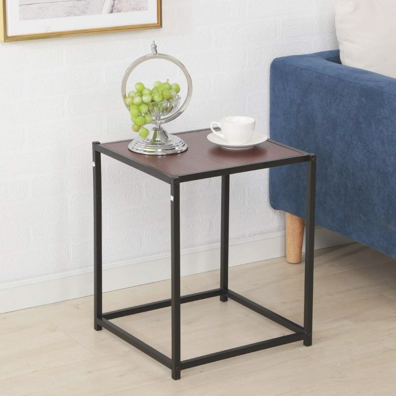Zimtown Modern End Table Living Room Sofa Coffee Table Metal Frame Home Furniture Small Accent Table - Walmart for Accent Tables For Living Room