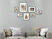 Aluminum Black Photo Frame with Ivory Color Mat & Real Glass, Metal Wall Photo Frame Collection