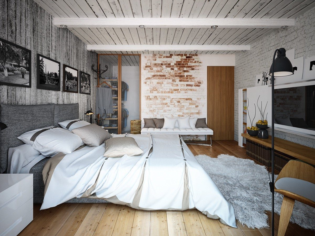Simple yet effective interior decoration for modern bedroom