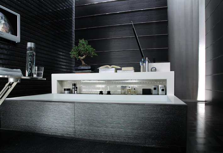 Black-white-contemporary-bathroom-tile