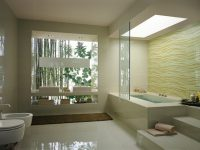 Cream-wave-bathroom-tile-stepped-bathtub