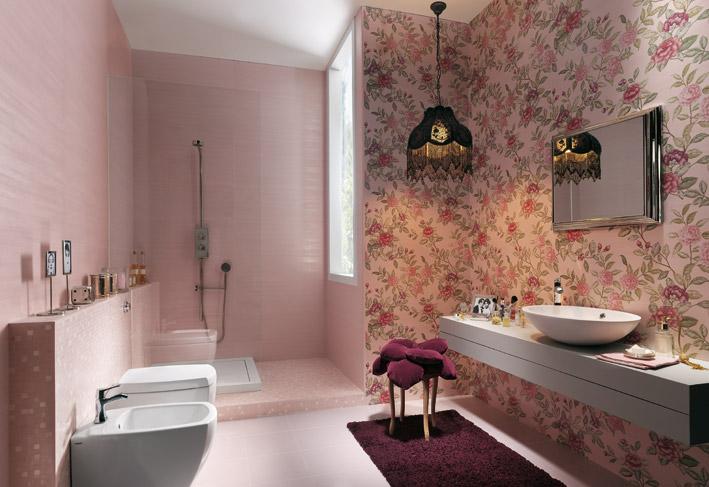 Floral-bathroom-wall-ceramic-tiles