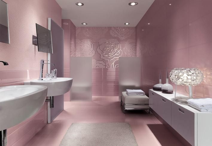Floral-metallic-bathroom-mosaic-tiles