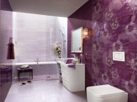 Purple-white-floral-bathroom-ceramic-tile