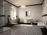 Tiled-floor-carpet-floral-mosaic-tiles