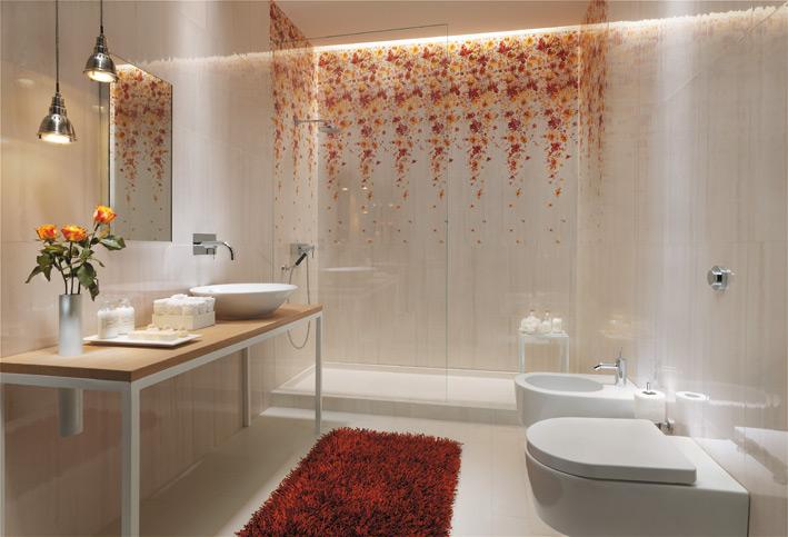 White-floral-bathroom-tile-design