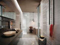White-gray-stripe-bathroom-tiles