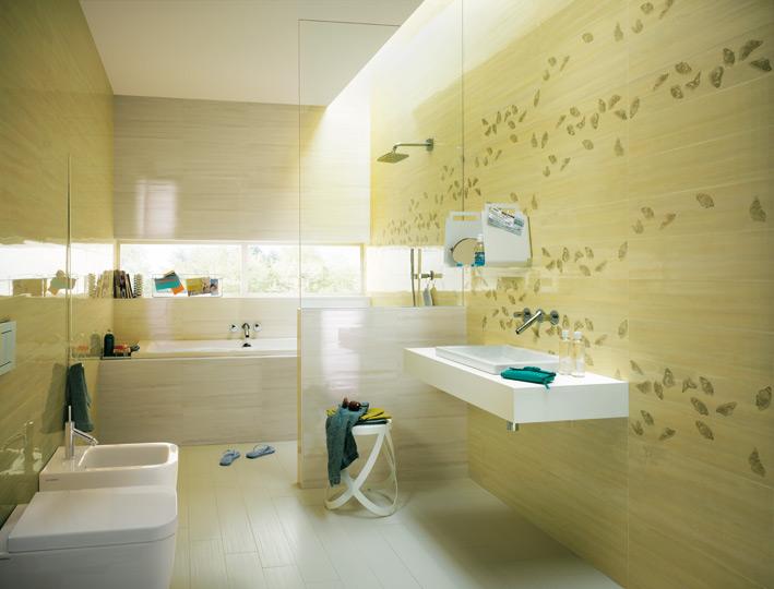 Yellow-cream-white-bathroom-tiles