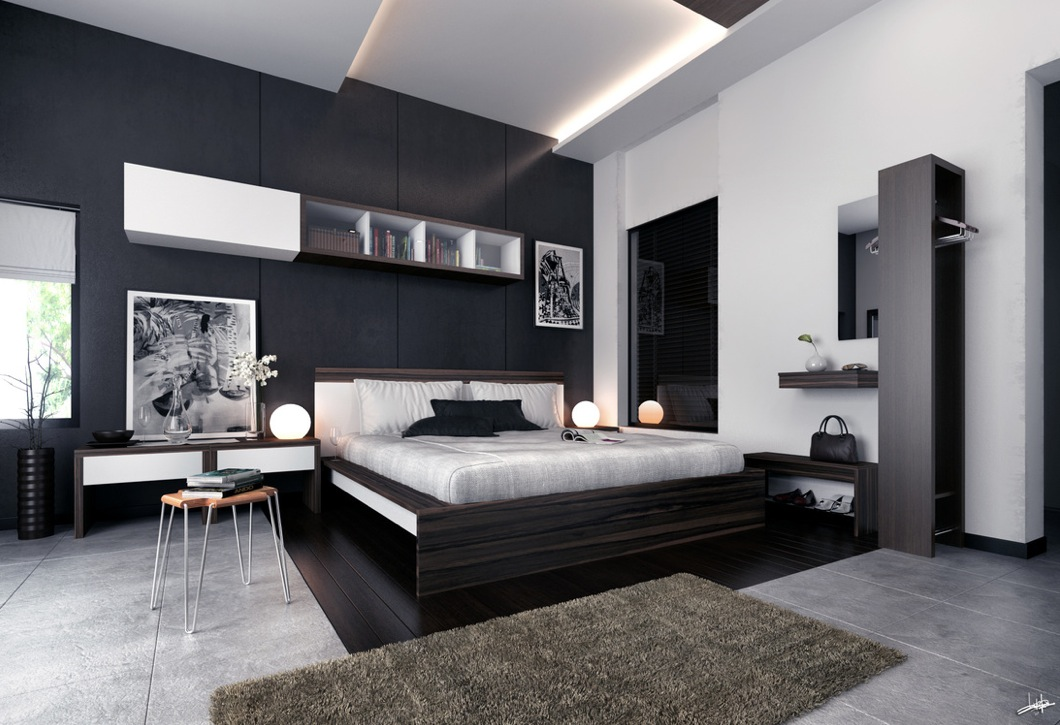 white-black-brown-modern-bedroom-furniture
