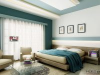 white-teal-bedroom-platform-bed