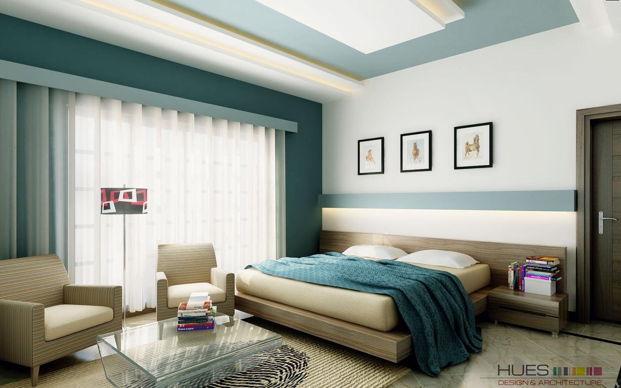 white-teal-bedroom-platform-bed