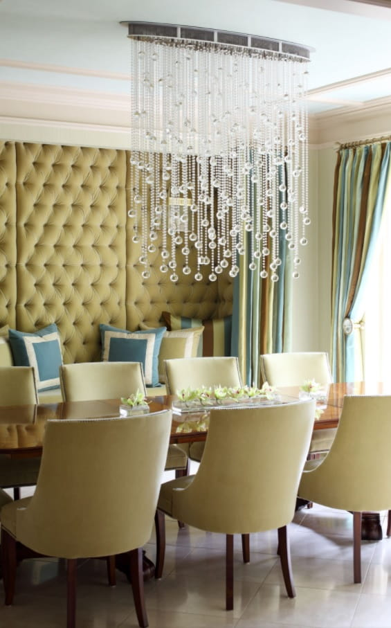 10 Ways to Stay Warm in Your Home without a Furnace. Quilted cloth wall panels for luxurious classic interior with crystal imitating chandelier