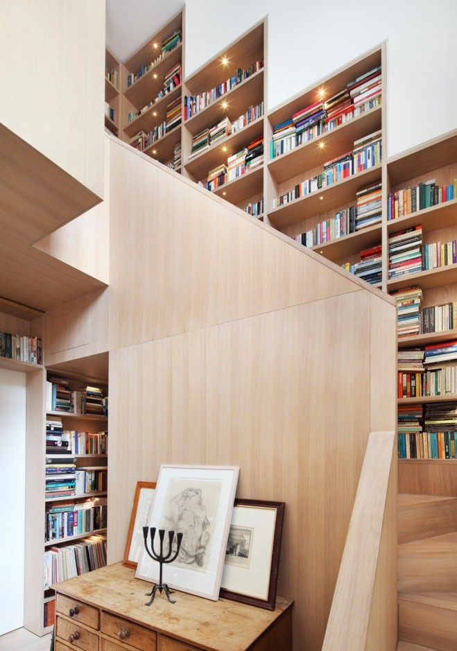 book-wall-stair-step-bookcase