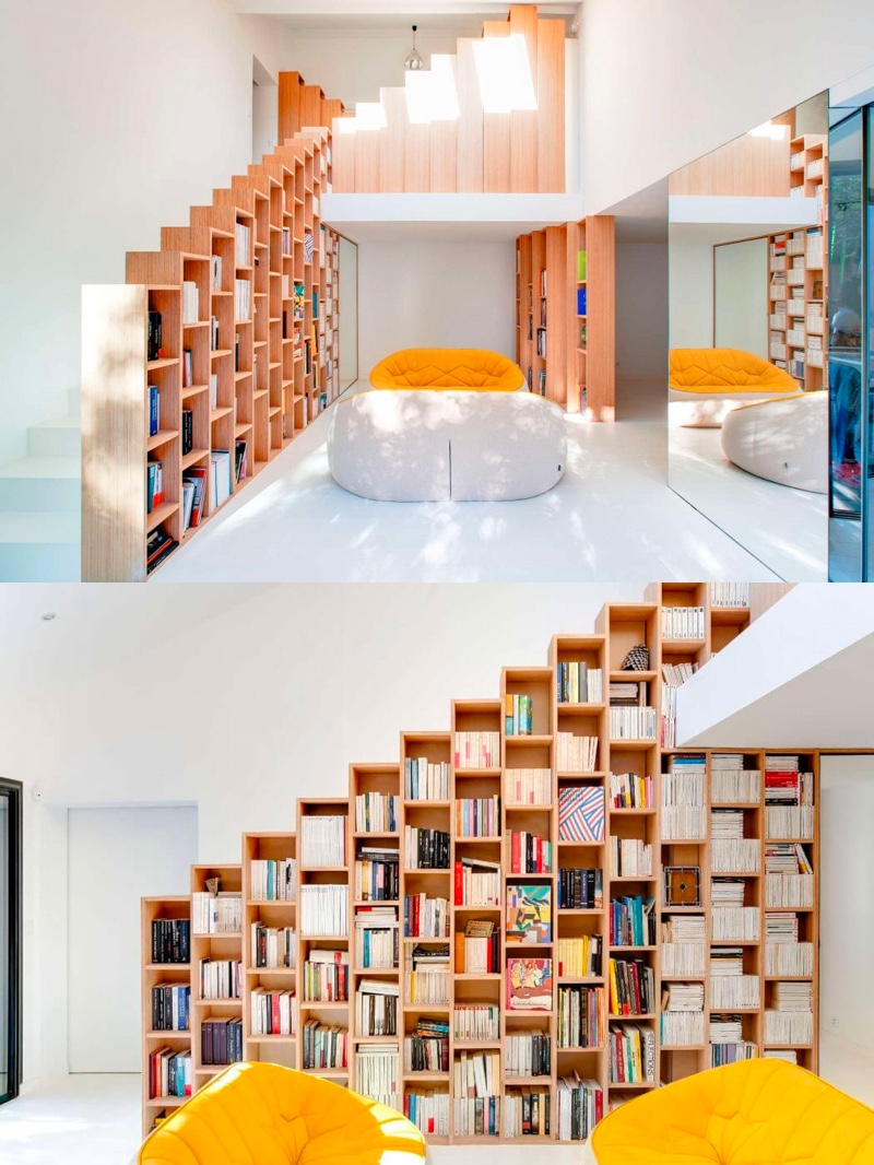 library-feature-under-stairs-ideas