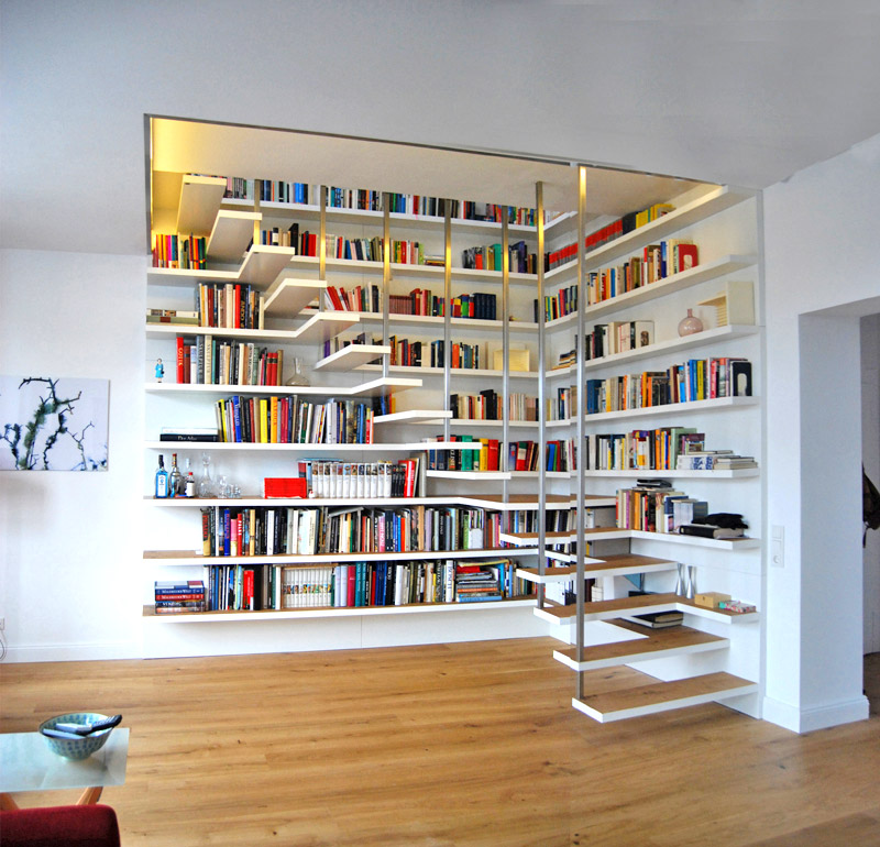 winding-white-bookcase-ideas-for-stairs-1