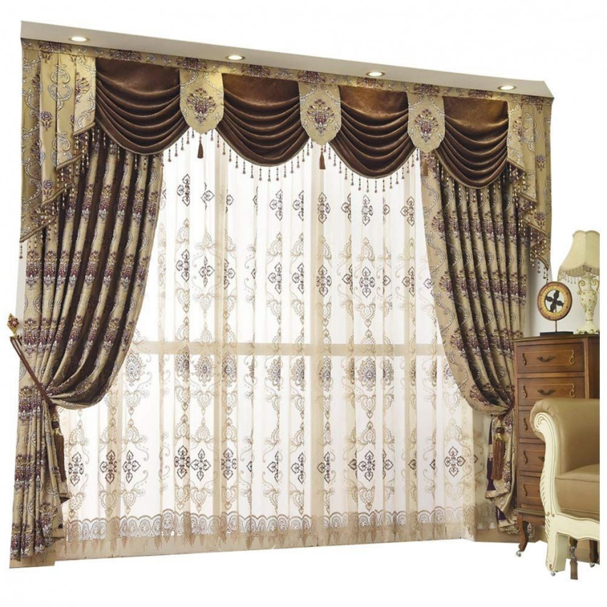 2. Queen'S House Luxury Baroque Pattern Window Curtains within 15 Unique Gallery For Living Room Curtains And Drapes
