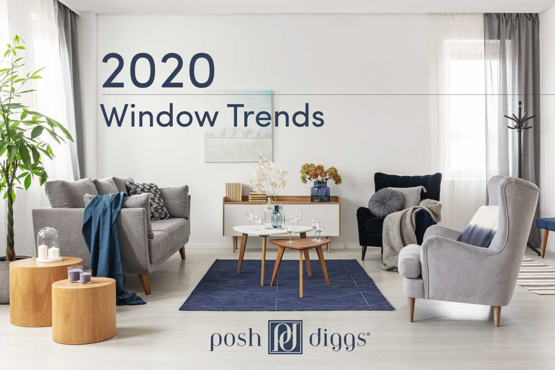 2020 Trends In Curtains And Window Treatments – Posh Diggs with Living Room Curtains And Drapes