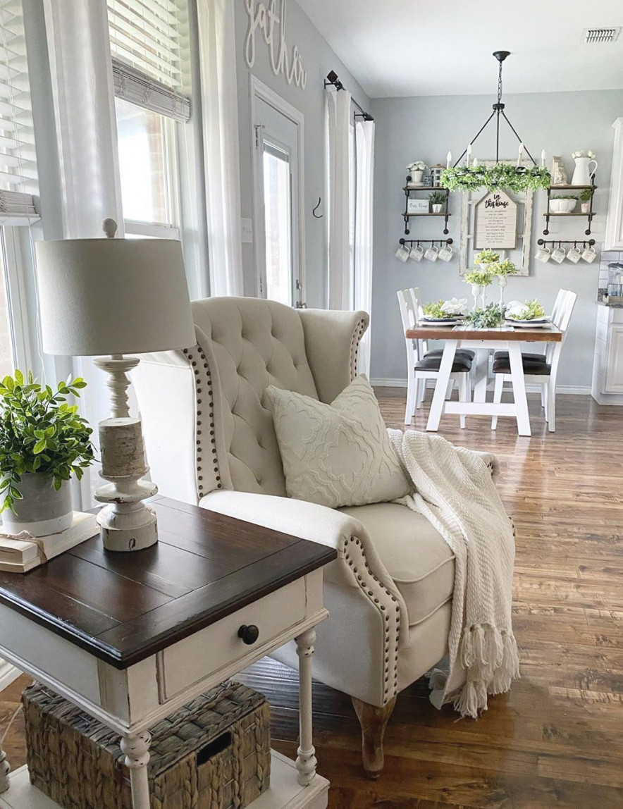 21 Cozy Farmhouse Accent Chairs For Relaxing pertaining to 15 Beautiful Ideas Sitting Chairs For Living Room