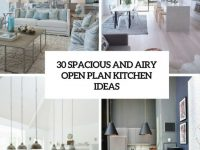 30 Spacious And Airy Open Plan Kitchen Ideas – Digsdigs with 8+ Amazing Inspiration Ideas For Open Kitchen Living Room Design
