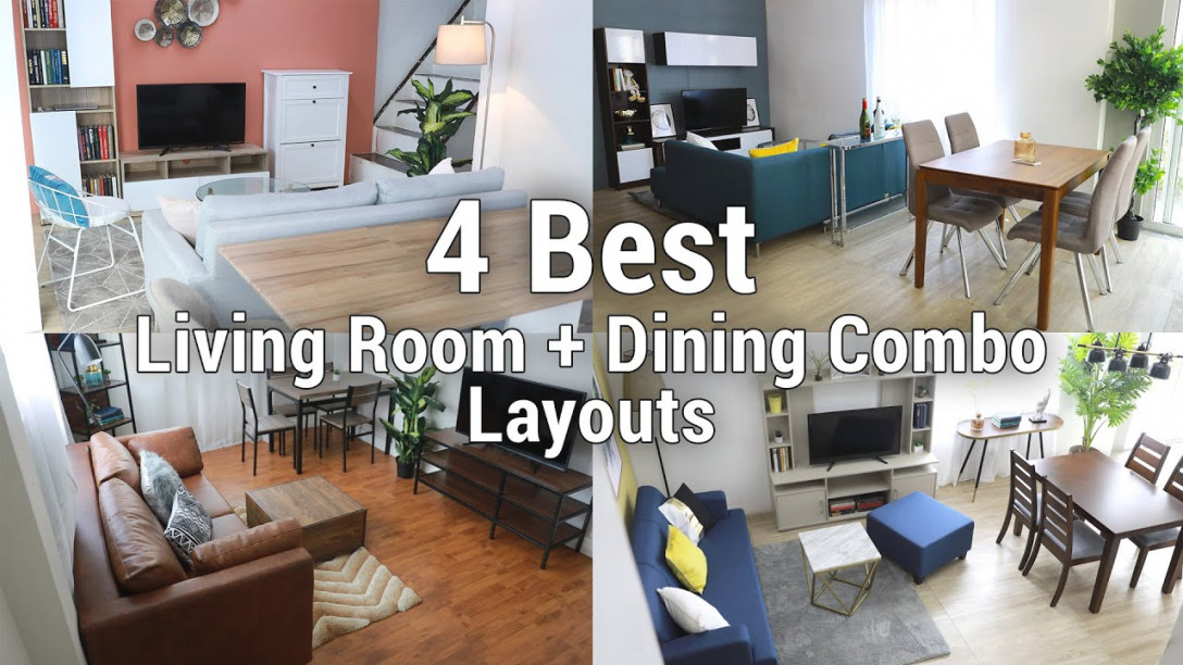 4 Best Living Room + Dining Combo Layouts | Mf Home Tv intended for Living Room Dining Room Combination
