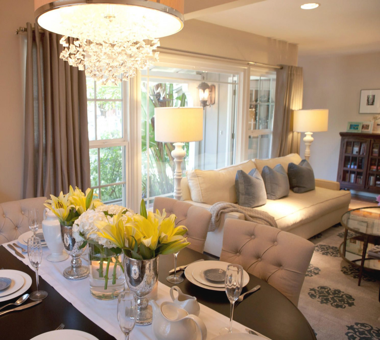 Amaizng Modern Dining Tables Ideas You Need To See: Get inside Beautiful Gallery Living And Dining Room Ideas