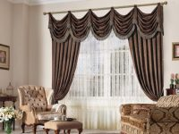 Brown Luxury Curtains For Living Room Modern Designer intended for Fancy Curtains For Living Room