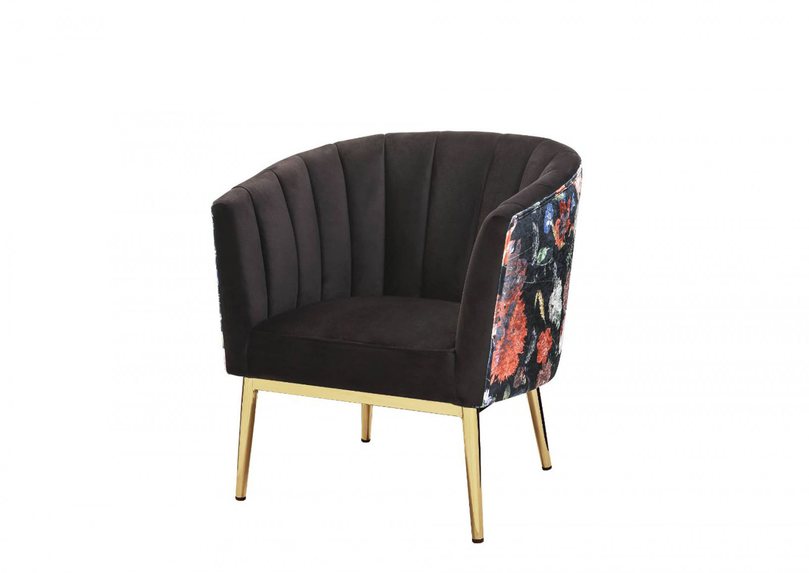 Colla Gray/Gold Accent Chair 5Th Avenue Furniture - Mi within Grey And Gold Living Room