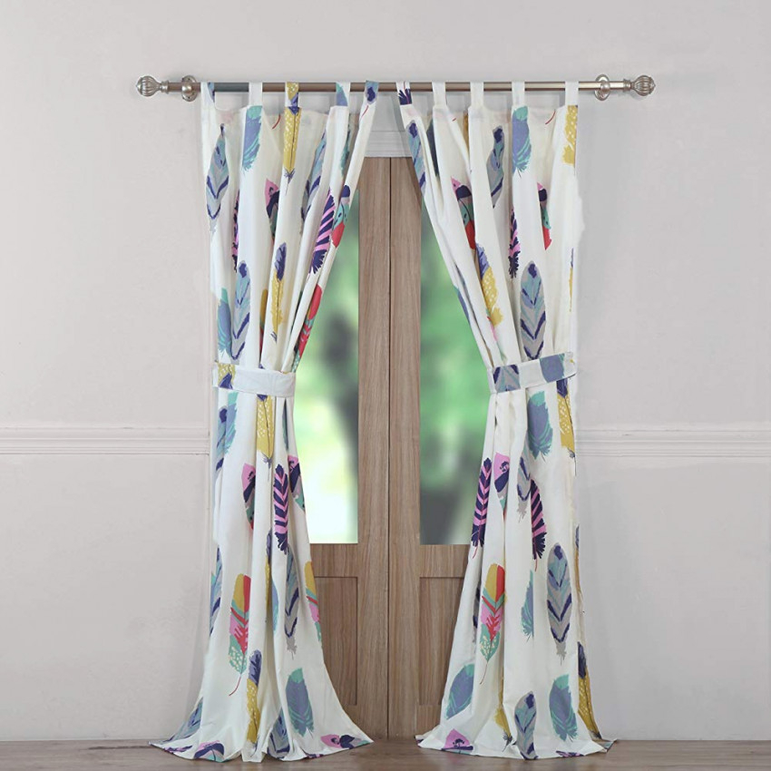 Colorful Feather Bohemian Elegant Abstract Living Room Curtains Drapes pertaining to 15 Unique Gallery For Living Room Curtains And Drapes