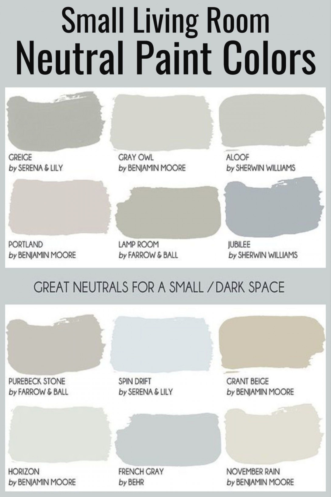 Cozy Neutral Living Room Ideas - Earthy Gray Living Rooms To for Paint Colors For Small Living Rooms