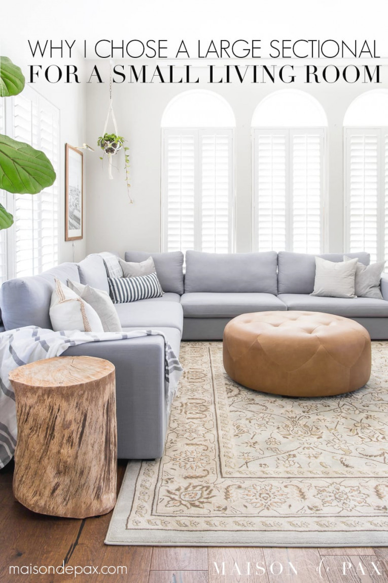 Designing A Small Living Room With A Large Sectional regarding 13+ Beautiful Ideas For Sectional For Small Living Room