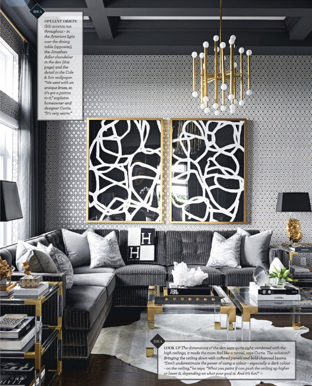 Gold And Grey Modern Masculine Glamour Living Room inside 10+ Ideas Grey And Gold Living Room