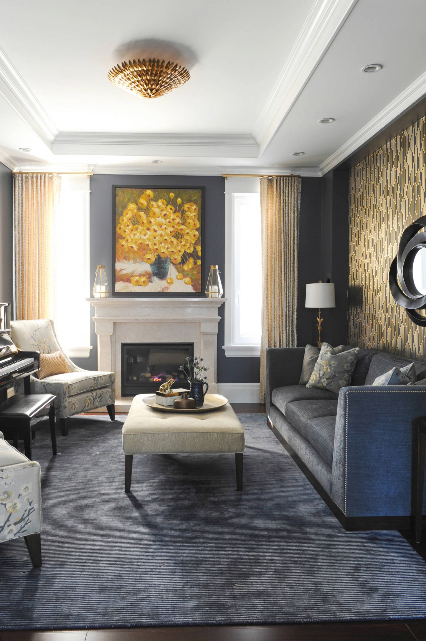 Gray Gold Living Room Ideas & Photos | Houzz pertaining to Grey And Gold Living Room
