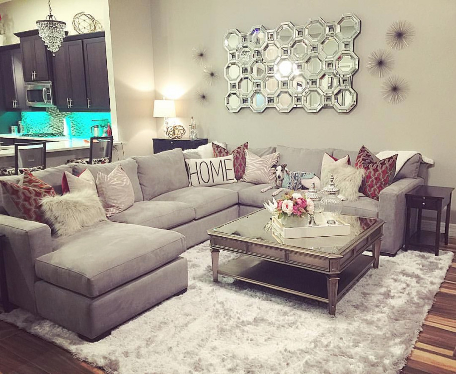 "Interior Designs On Instagram: ""My Clients New Family Room inside 13+ Beautiful Ideas For Sectional For Small Living Room"