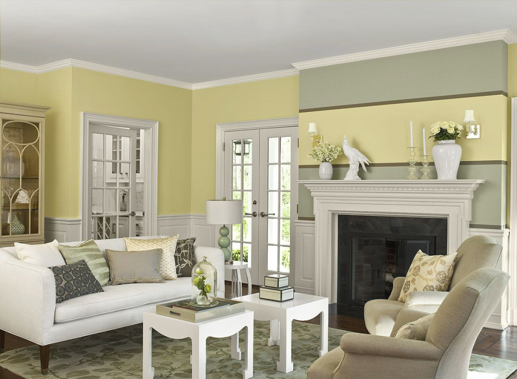 Living Room Color Ideas & Inspiration | Benjamin Moore regarding Awesome Inspiration For Wall Paint Colors For Living Room